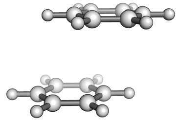 Benzene dimer parallel-displaced structure
